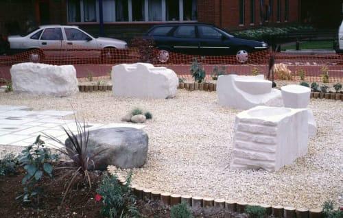 Public Sculptures by David O'Connor seen at Salisbury District Hospital, Salisbury - Vessel
