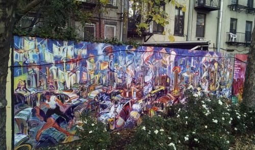 Murals by Steve Zolin Art seen at First Park, New York - Urban Jam