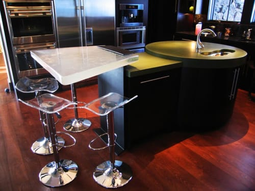 Tables by Walter Gordinier seen at Private Residence - Vail, CO, Vail - Cast table