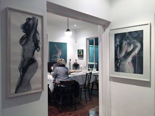Paintings by Tracy Payne seen at Private Residence, Cape Town - 'Sakura in Bondage'