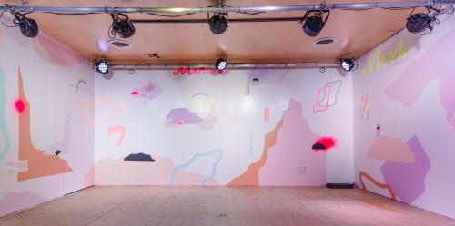 Murals by Devon Walz seen at VANS HQ Costa Mesa, Costa Mesa - Vans SideStripe Sessions Mural