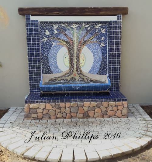 Public Mosaics by Julian Phillips Mosaic seen at Private Residence, Wilderness - Mosaic Water Feature