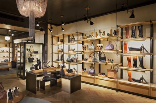 Furniture by Amuneal seen at Cole Haan, New York - Perimeter Shelving System
