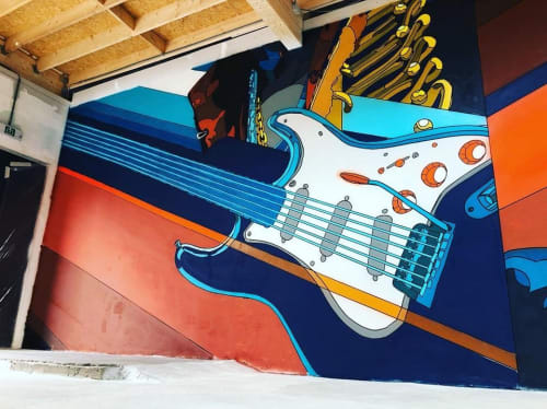 Murals by NovaDead seen at Private Residence - GHOST OF JIMMY HENDRIX