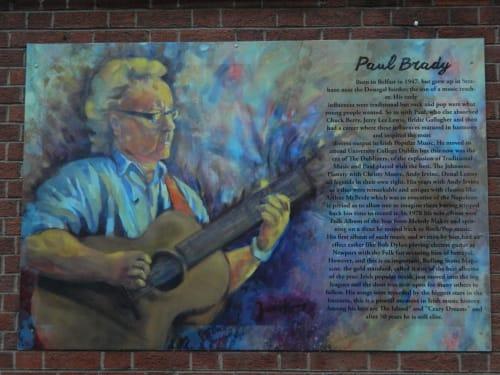 Murals by Pawel Jasinski seen at The Icon Factory & The Icon Walk, Dublin - Portrait of Paul Brady