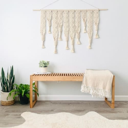 Macrame Wall Hanging by Love & Fiber seen at Private Residence, San Diego - Large Fringe Macrame