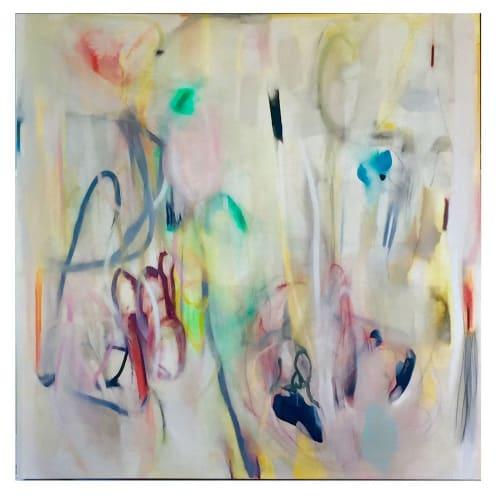 Paintings by Anne C. Faber seen at Creator's Studio, Wauconda - Notes & Scribes, Callahan Rd V,  Callahan Road X and Callahan Road IX