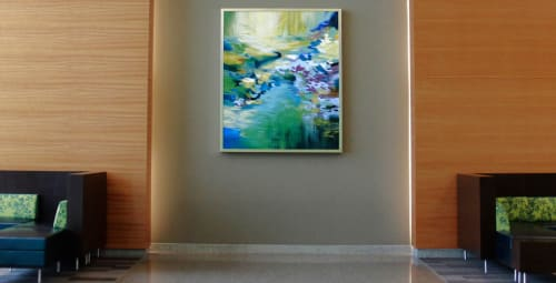 Paintings by Cat Tesla seen at Northside Hospital Cherokee, Canton - Chrysalis No. 135, 136, 137