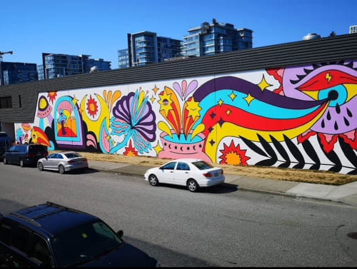 Street Murals by Olivia Di Liberto seen at Vancouver, Vancouver - Mural