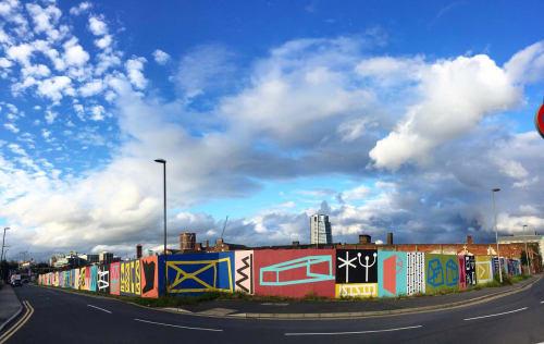 Murals by BRESKA STUDIO seen at Bath Road, Leeds - Uneven Geometry
