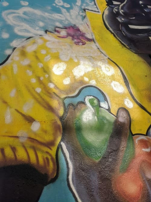 Street Murals by DKHDRAWS seen at 4802 Rhode Island Ave, Hyattsville - Water Balloon Dance 2020