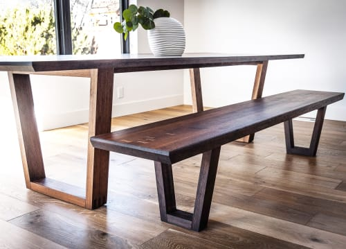 Tables by Sawyer Design seen at Private Residence, Boise - Walnut MCM