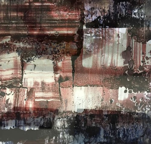 Paintings by Vesna Bricelj seen at Industry City, Brooklyn - Espejismo