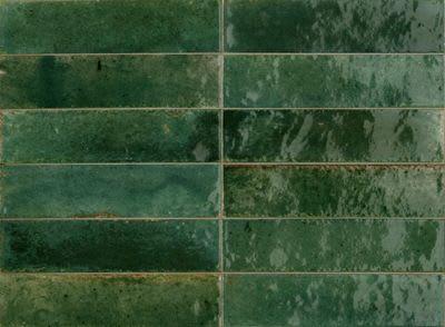 Tiles by Skheme seen at Maroubra Junction, Maroubra - Zellij Brick Green Gloss