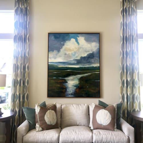 Paintings by Mike Perry Fine Art seen at Private Residence, Fernandina Beach - Abstract Painting