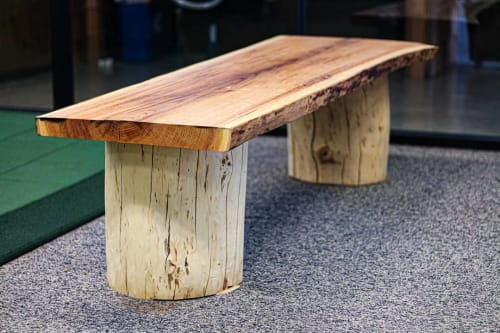 Benches & Ottomans by Howard Family Designs seen at Paradox Church, Warren - Live Edge Benches
