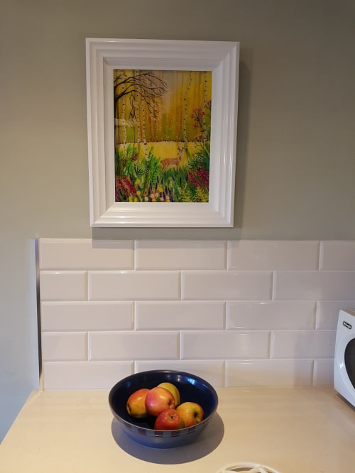 Paintings by Carolina Arbuthnot seen at Private Residence, Solihull - Spring Deer