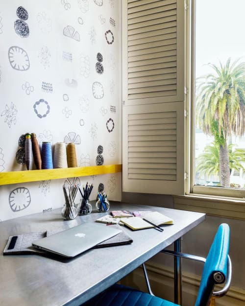 Wallpaper by Metolius seen at Private Residence, San Francisco - Sketchbook Wallpaper