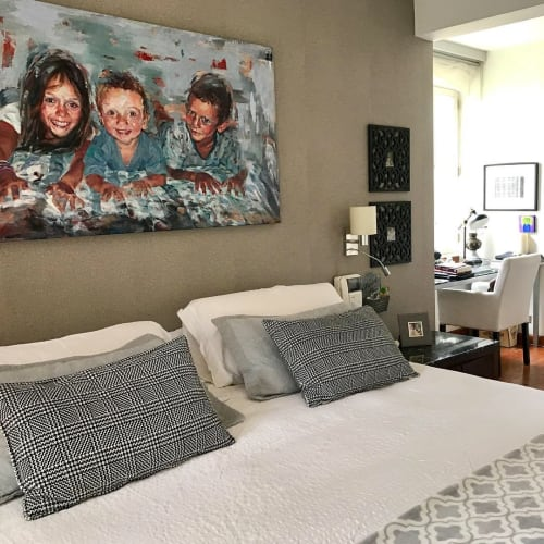 Paintings by Daniella Queirolo Art seen at Private Residence, Lima - Portrait Commission