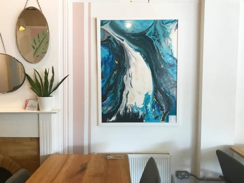 """Paintings by Jess Thacker seen at Roots, Upminster - """"Holocene"""" Abstract Painting"""