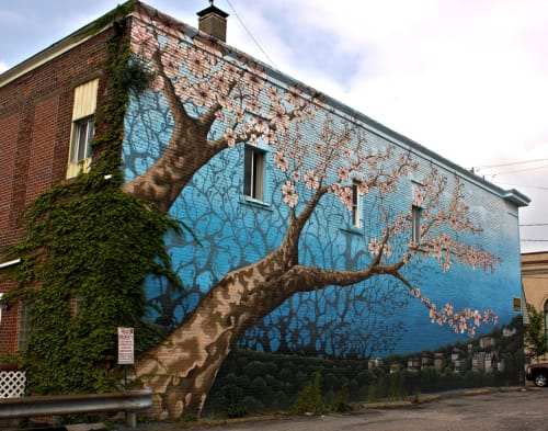 Street Murals by Gerard Tonti seen at Mount Washington, Pittsburgh - Bloom