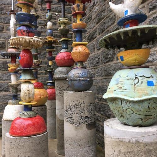 Finials | Public Sculptures by Rhoda Kahler | Swarthmore-Rutledge School in Swarthmore