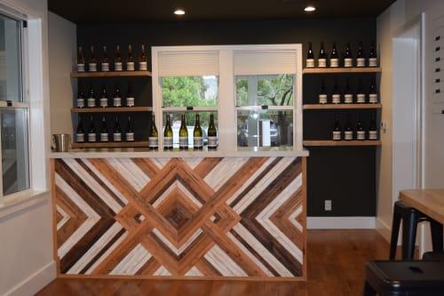 Tables by Carved Coast seen at Los Olivos, Los Olivos - Custom Wine Bar for Tasting Room