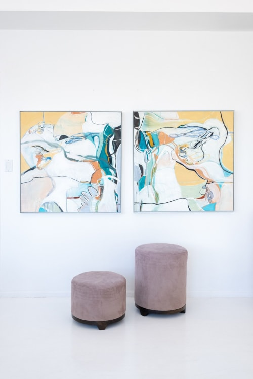 Paintings by Marlene Lowden seen at Private Residence - Sun and Stones