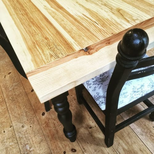 Tables by Timber By Tucker Rustic Design seen at Private Residence - Rustic Ash Harvest Table