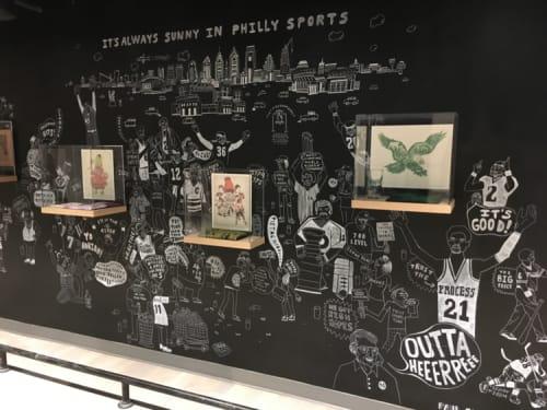 Murals by Paul Carpenter Art seen at Capital One Café, Philadelphia - Philly Sports Mural