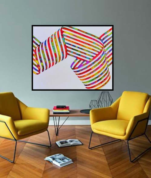 Paintings by Virginie SCHROEDER seen at New York, New York - the spiral of love