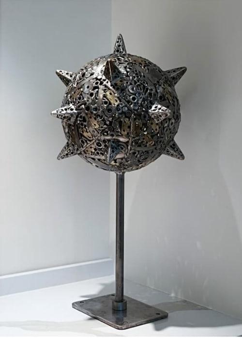 Sculptures by Brian Mock seen at Hotel Zena, Washington - Mace