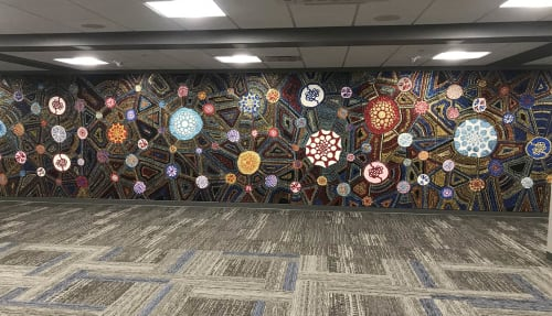 "Murals by Dylan Mortimer seen at KU Med, Salina - ""From the Scars to the Stars"""