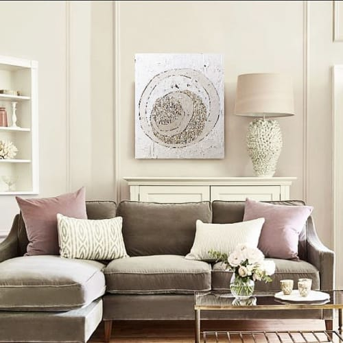 Paintings by DashaD.Art seen at Private Residence - Paris France, Paris - cream