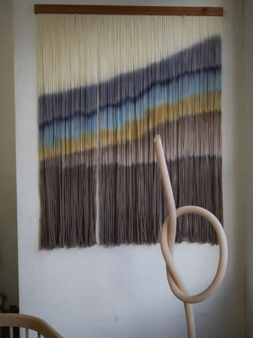 "Wall Hangings by Inspire By Kelsey (Kelsey Cerdas Art) seen at Wescover Gallery at West Coast Craft SF 2019, San Francisco - ""Sparrow"" - Modern Fiber Wall Hanging"