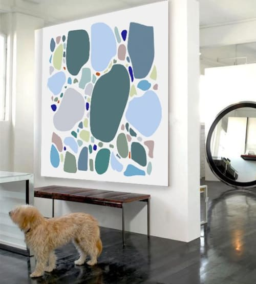 Art & Wall Decor by Richard Gene Barbera seen at Private Residence - Square Pebble - Acrylic Print