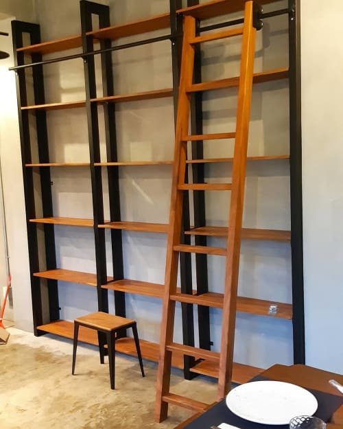 Furniture by RCWOODWorks seen at Loyola Drive, Cagayan de Oro - Industrial Shelves