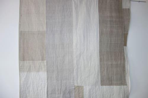 Art & Wall Decor by DaWitt seen at Farbenfabrik, Leipzig - Black white linen quilt