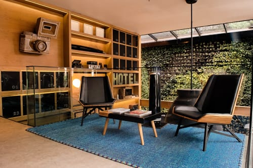 Rugs by VERDI seen at The Click Clack Hotel, Bogotá - Horse-Hair & Copper-Thread Rug
