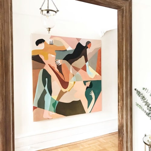 Paintings by Jessalyn Brooks seen at Private Residence, Brooklyn - Abstract Painting