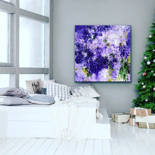 Paintings by Darlene Watson seen at Private Residence, Churchville - Purple Wisteria Not Just In Monet's Garden