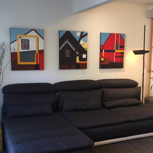 Paintings by Anna Sidana seen at Private Residence, San Francisco - Cottage Paintings