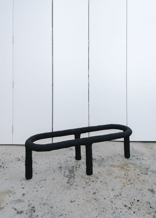 Benches & Ottomans by Walter Mingledorff seen at Inside/Out - The Vale Park, Brooklyn - Hot Cereal, Cold Patch