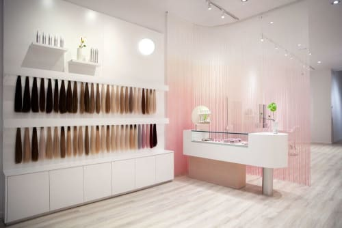 Interior Design by Sergio Mannino Studio seen at Glam Seamless Hair Extensions Flagship Salon & Store, New York - Interior Design