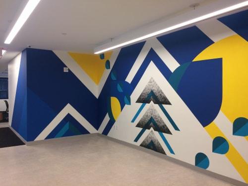 Murals by LAMKAT seen at Behalf Inc., New York - Interior Lobby