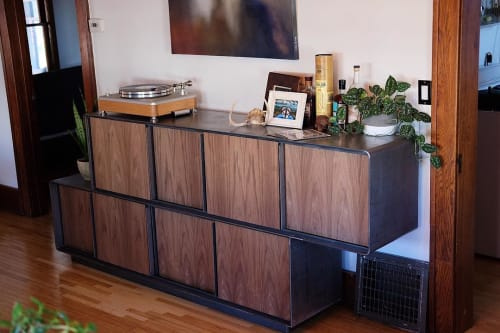 Furniture by Concrete Pig seen at Private Residence, Minneapolis - Custom Credenza