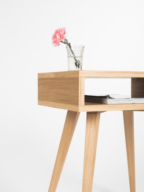 Night stand, bed side table, end table with open shelf | Tables by Mo Woodwork