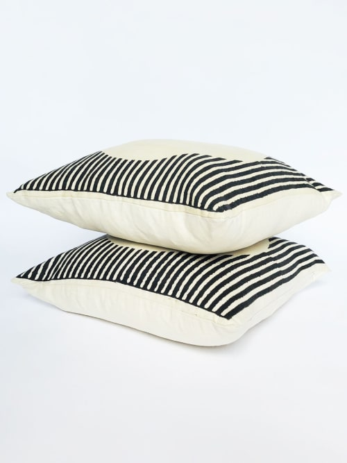 Pillows by Sunday / Monday by Nisha Mirani and Brendan Kramer seen at Private Residence, New York - Iora Pillow
