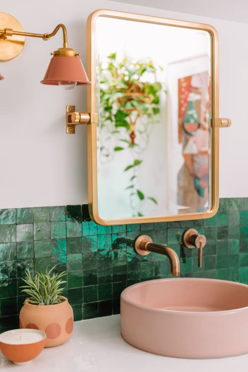 Water Fixtures by Nood Co. seen at The Mindwelling, Los Angeles - Cement Sink in Blush