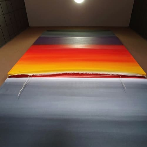 Paintings by Hugo seen at Brown Chiari LLP, Lancaster - Vertigo Monolith